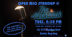 Open Mic Standup at The Aftermath