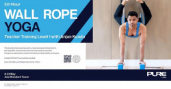 50-Hour Wall Rope Yoga Teacher Training – Level 1 with Anjan Kundu